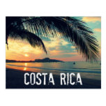 costa, rica, beach, sunset, postcard, paradise