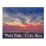 Costa Rica Beach Sunset Pura Vida Postcard