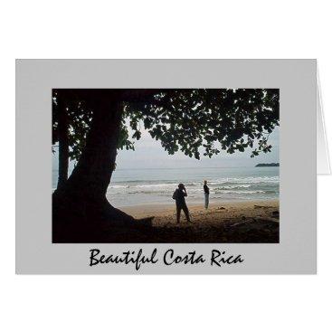 Beach Themed Costa Rica - Beautiful Cahuita Beach Card