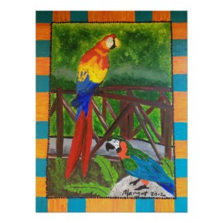 Costa Rica Birds 18x24 inch Poster