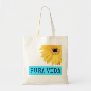 VIDA Tote Bag - Pink Daisy by VIDA