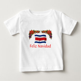 Costa Rica Christmas Baby T-Shirt