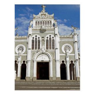 costa rica church postcard