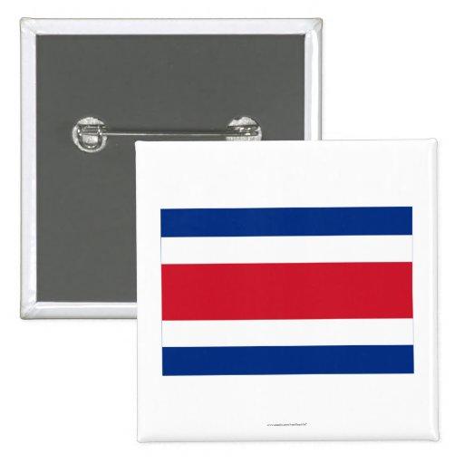 Costa Rica Civil Flag Button