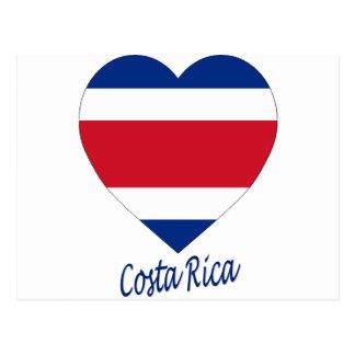 Costa Rica (civil) Flag Heart Postcard