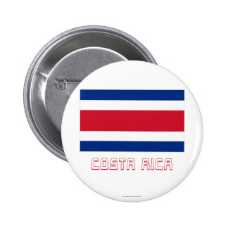 Costa Rica Civil Flag with Name Pins