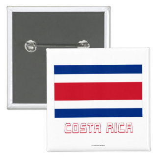 Costa Rica Civil Flag with Name Pin