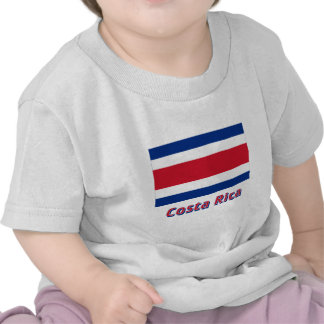 Costa Rica Civil Flag with Name Tshirts