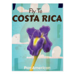 Costa Rica Classic vintage travel poster Postcard