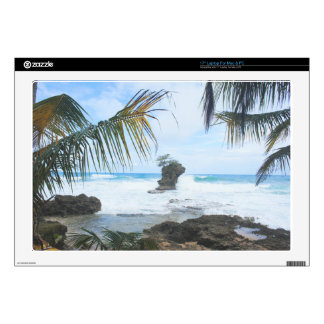 "costa rica coast 17"" laptop skin"
