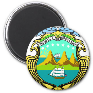 Costa Rica Coat Of Arms 2 Inch Round Magnet
