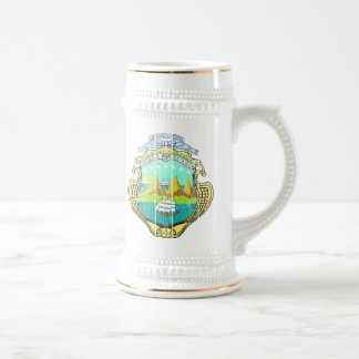 Costa Rica Coat Of Arms Beer Stein
