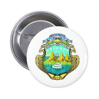 Costa Rica Coat Of Arms 2 Inch Round Button