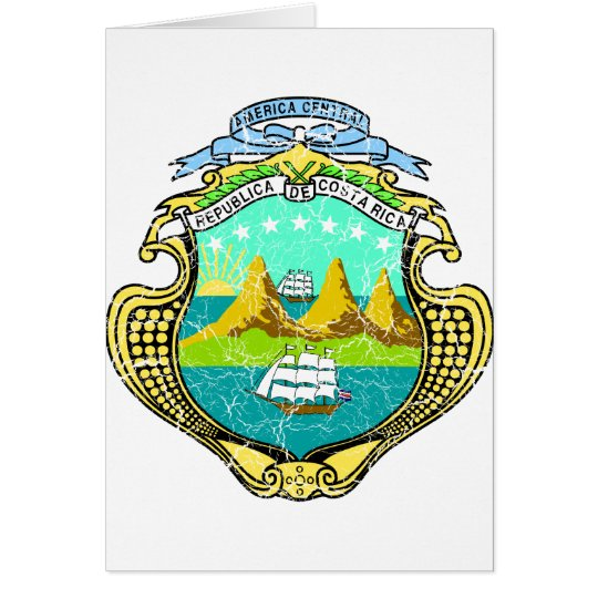 Costa Rica Coat Of Arms Card