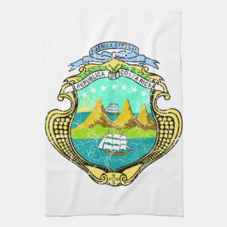 Costa Rica Coat Of Arms Hand Towel