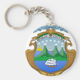 Costa Rica Coat of Arms Key Chain