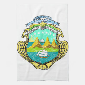 Costa Rica Coat Of Arms Towel