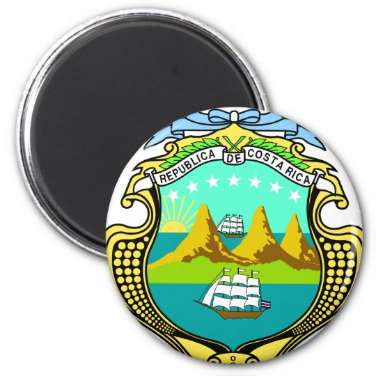 Costa Rica Coat Of Arms Magnet