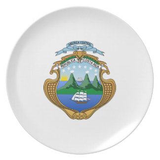 Costa Rica Coat of Arms Melamine Plate