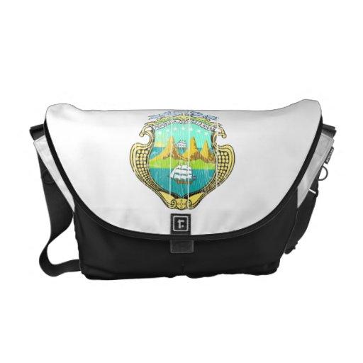 Costa Rica Coat Of Arms Messenger Bag