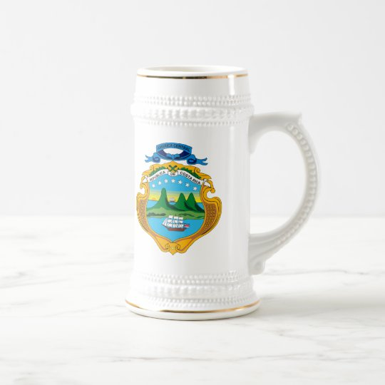 Costa Rica Coat of Arms Mug