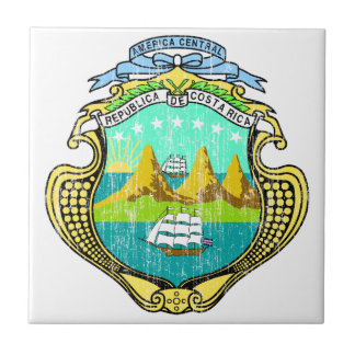 Costa Rica Coat Of Arms Tile