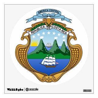 Costa Rica Coat of Arms Wall Sticker