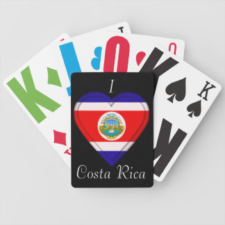 Costa Rica Cost Rican Flag Bicycle Playing Cards