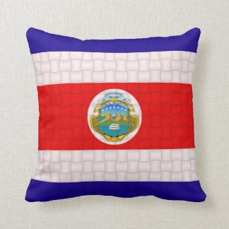 Costa Rica Cost Rican Flag Throw Pillow