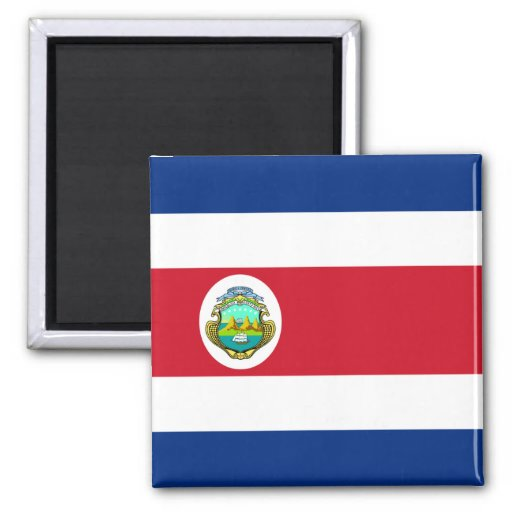 Costa Rica – Costa Rican National Flag 2 Inch Square Magnet