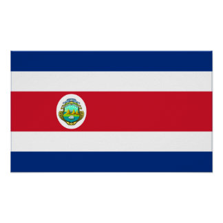 Costa Rica – Costa Rican National Flag Poster