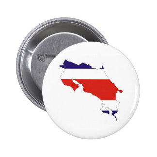costa rica country flag map 2 inch round button