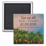Costa Rica Destination Wedding Save the Date 2 Inch Square Magnet