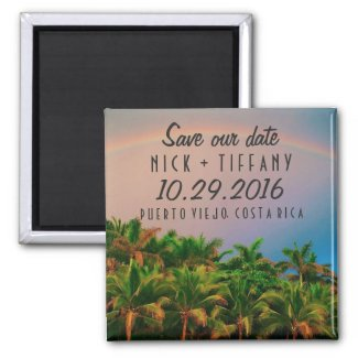 Costa Rica Destination Wedding Save the Date Magnet