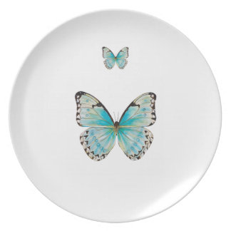 Costa Rica Double Butterfly Melamine Plate