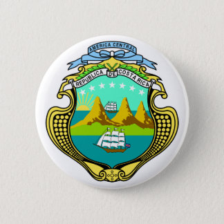 costa rica emblem pinback button