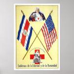 Costa Rica - emblemas de la libertad y de la human Impresiones