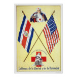Costa Rica - Emblems of Liberty and Humanity Posters