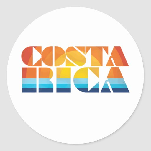 Costa Rica Etiquetas Redondas