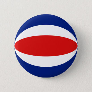 Costa Rica Fisheye Flag Button