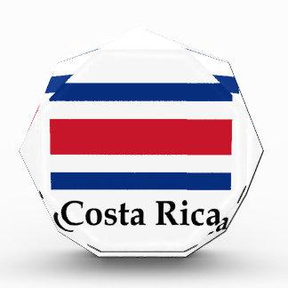 Costa Rica Flag And Name Acrylic Award