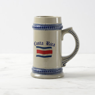 Costa Rica Flag Beer Stein