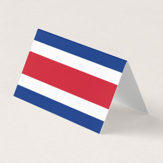 Costa Rica Flag Business Card