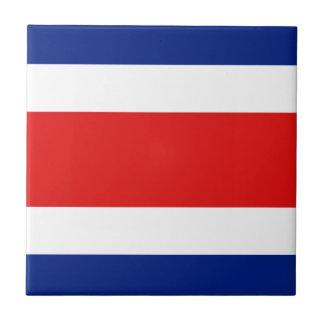 Costa Rica Flag Ceramic Tile
