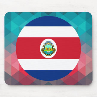Costa Rica flag circle on modern bokeh Mouse Pad