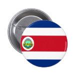 Costa Rica Flag CR Pinback Button