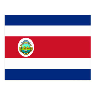 Costa Rica Flag CR Postcard