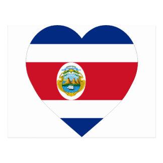 Costa Rica Flag Heart Postcard