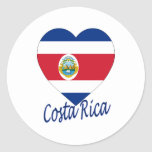 Costa Rica Flag Heart Stickers