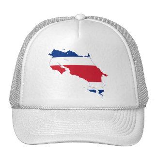 Costa Rica Flag map CR Trucker Hats